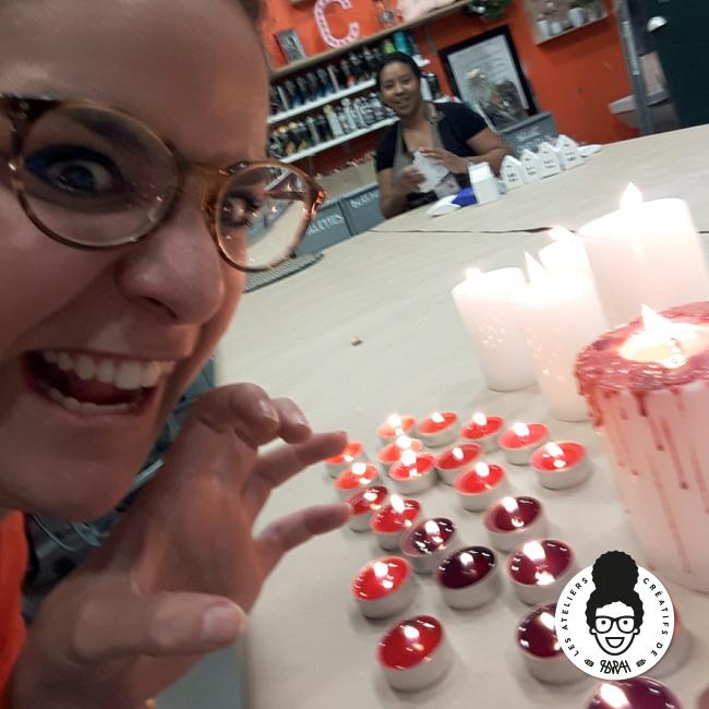 les ateliers créatifs de sarah gyver tuto bougies halloween Zodio