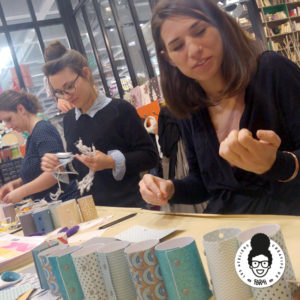 Les ateliers créatifs de Sarah Gyver Comité d'Entreprise Leroy Merlin guirlande lumineuse Zôdio