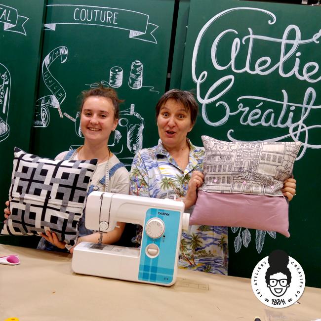 les ateliers créatifs de sarah gyver couture coussin Zôdio