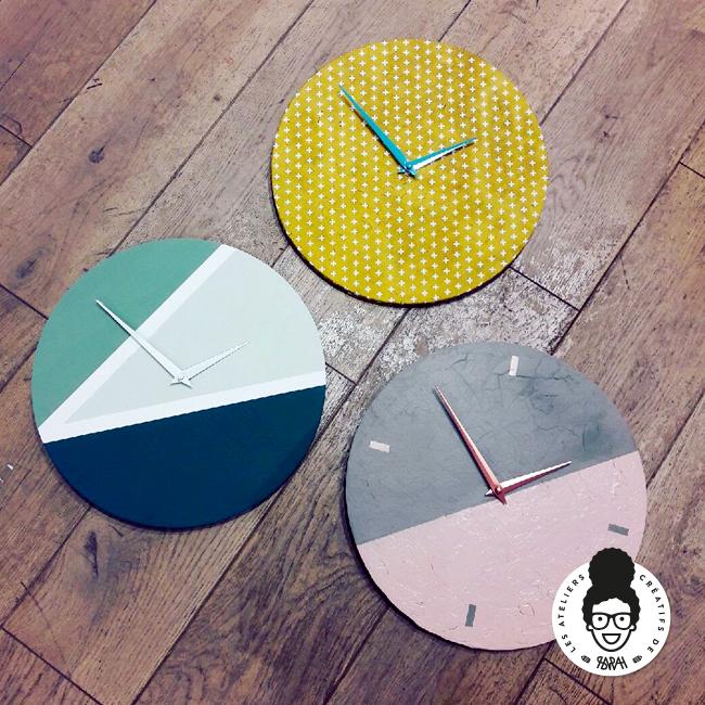 Horloge diy les ateliers cr atifs de sarah for Horloge zodio