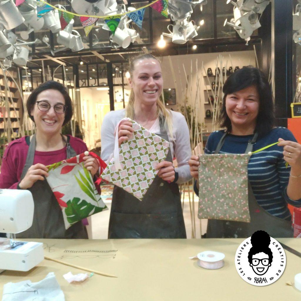 les ateliers créatifs de Sarah Gyver couture à Zôdio