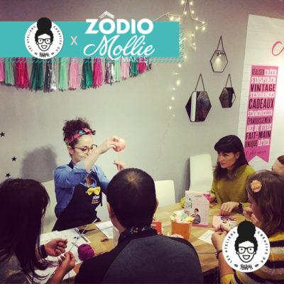 Atelier tricot au Salon «Créations & Savoir Faire» avec Zôdio et Mollie Makes