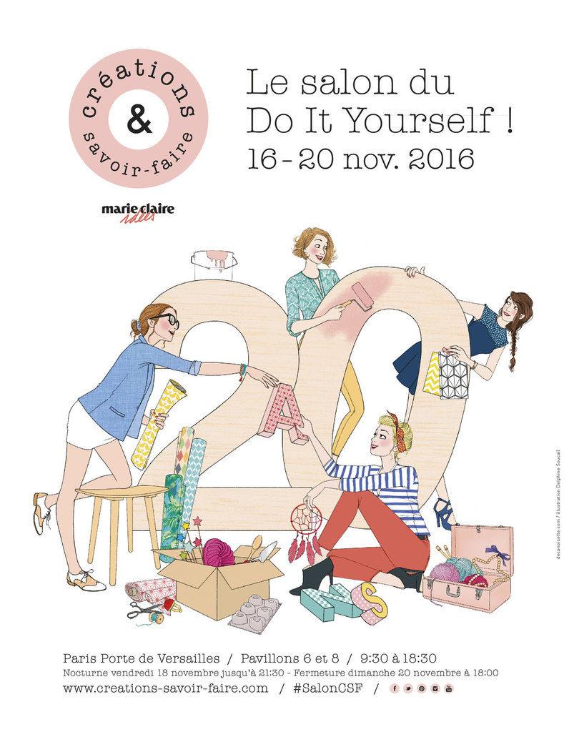 Atelier tricot au Salon Créations & Savoir Faire avec Mollie Makes