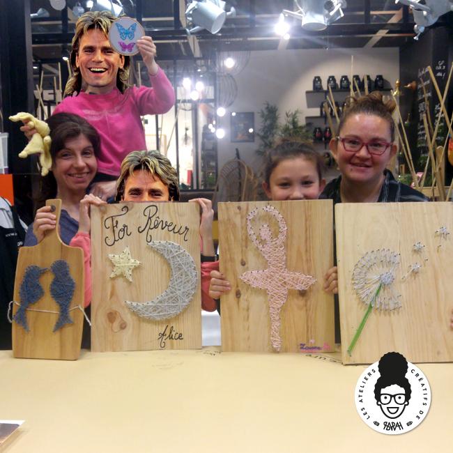 Les Ateliers Créatifs de Sarah Gyver Gaouaoui Zôdio La Rochelle atelier tableau string art diy