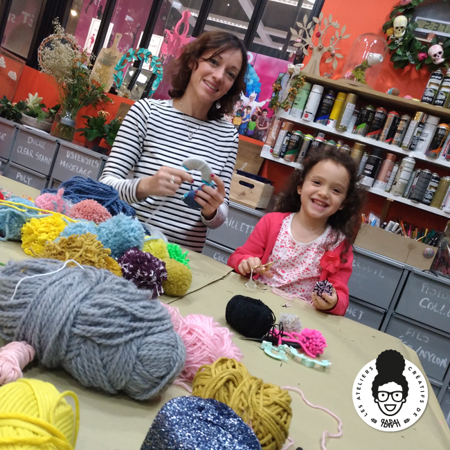 les ateliers créatifs de sarah gyver pompon Zôdio