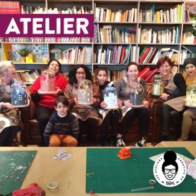 Atelier Noël 🎅 – «Village lumineux sous cloche»