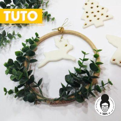 Tutoriel Noël – «Petite couronne de Noël en porcelaine froide»