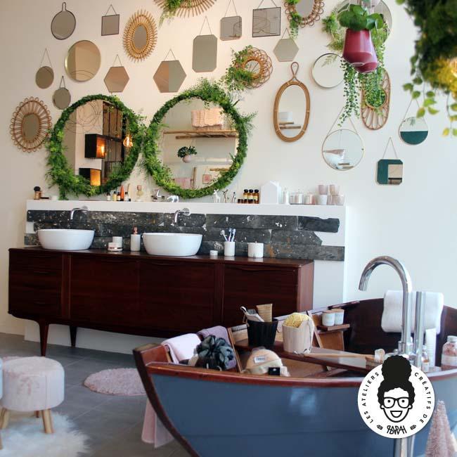 Les ateliers créatifs de Sarah Gyver Gaouaoui décoration maison Zôdio La Rochelle salle de bain fairy tale
