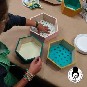 les ateliers créatifs de sarah gyver gaouaoui Zôdio La Rochelle atelier customisation d'étagères