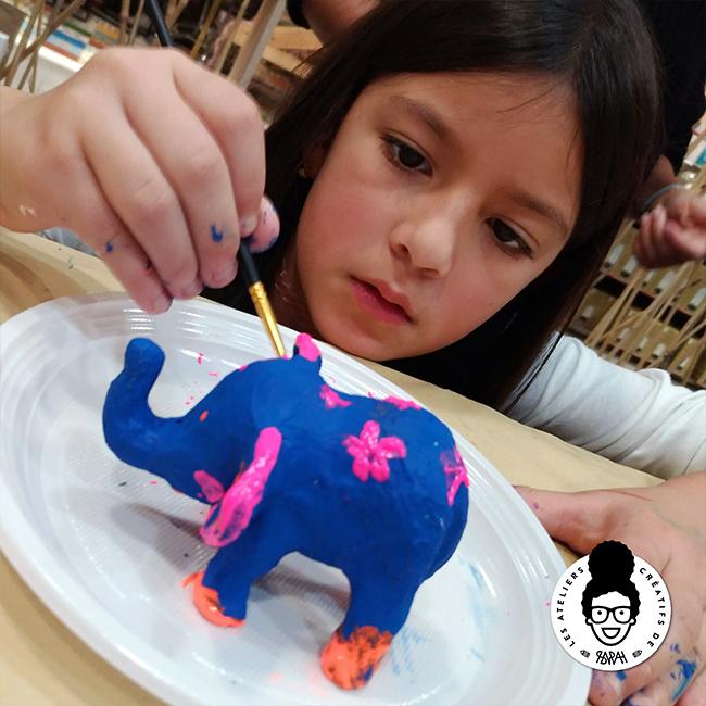 les ateliers créatifs de sarah Gyver Gaouaoui Zôdio La Rochelle atelier customisation de petits animaux en papier mâchés