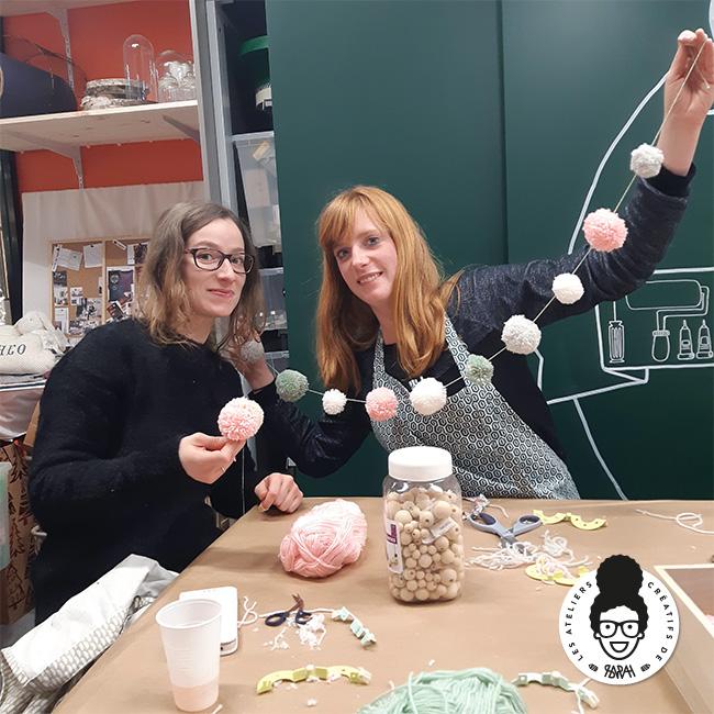 Les Ateliers Créatifs de Sarah Gyver Gaouaoui Zôdio La Rochelle atelier baby shower déco diy