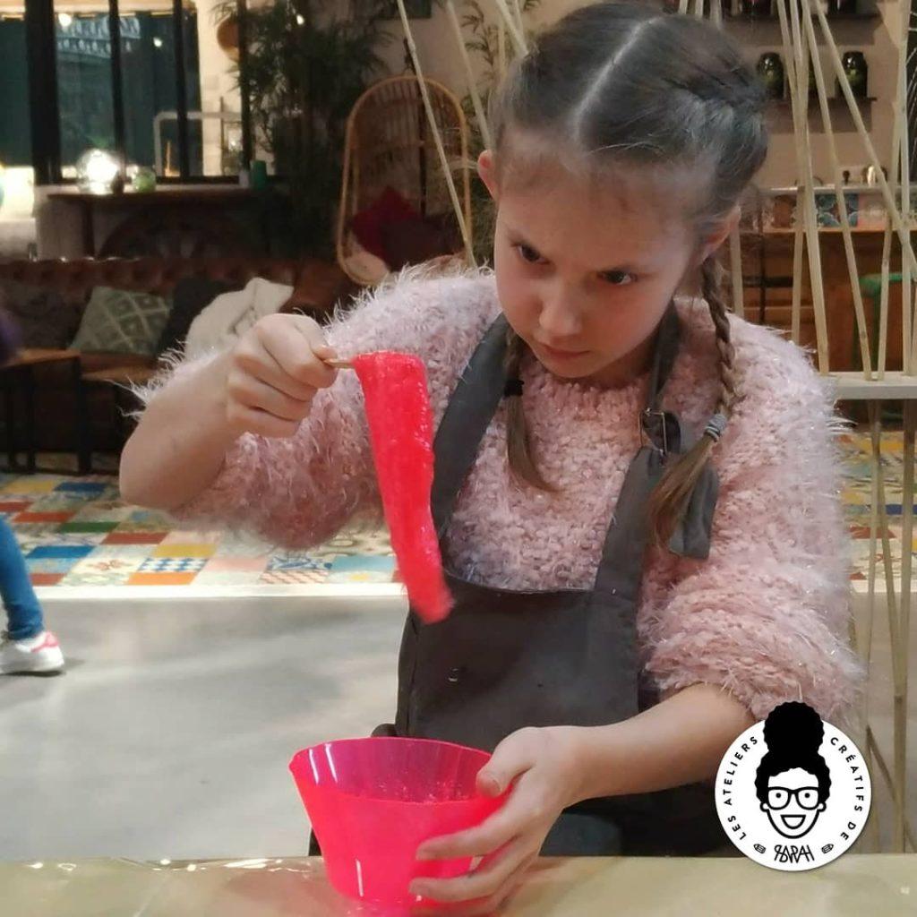Les Ateliers Créatifs de Sarah Gyver Gaouaoui Zôdio La Rochelle atelier enfants slime diy