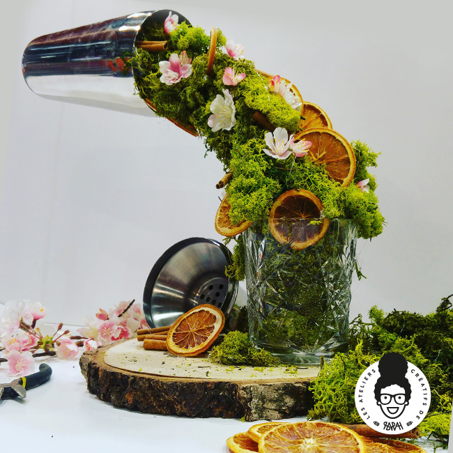 Les Ateliers Créatifs de Sarah Gyver Gaouaoui Zôdio La Rochelle atelier florale shaker en lévitation diy