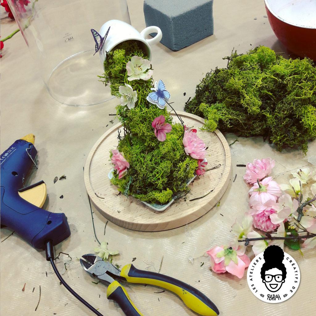 Les Ateliers Créatifs de Sarah Gyver Gaouaoui Zôdio La Rochelle atelier florale tasse en lévitation diy