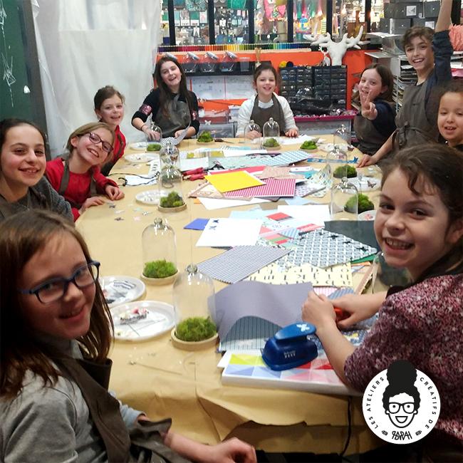 Les Ateliers Créatifs de Sarah Gyver Gaouaoui Zôdio La Rochelle atelier papillons sous cloche en verre diy