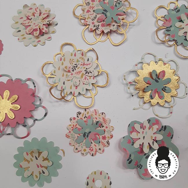Les Ateliers Créatifs de Sarah Gyver Gaouaoui Zôdio La Rochelle atelier couronne de fleurs en papier diy