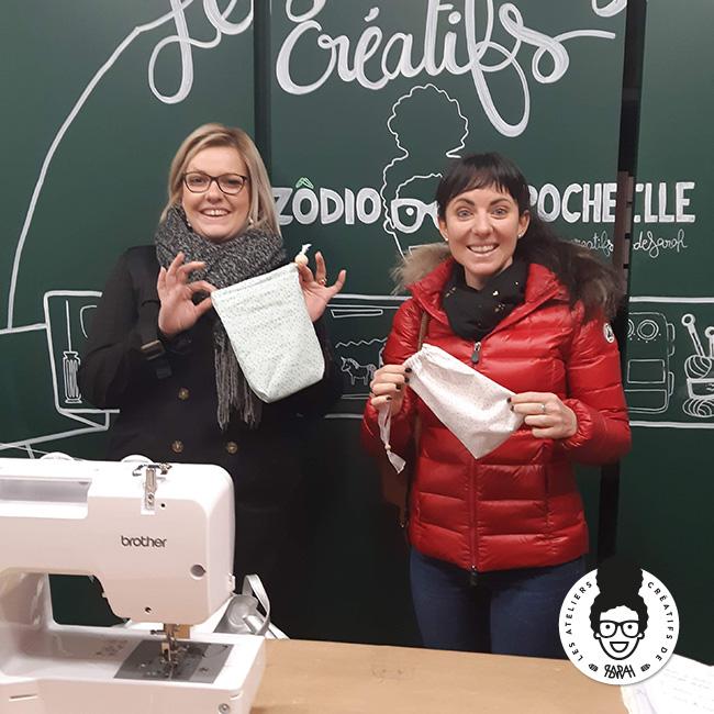 Les Ateliers Créatifs de Sarah Gyver Gaouaoui Zôdio La Rochelle atelier initiation couture diy