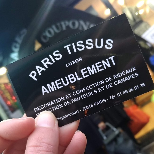 Paris Tissu Luxor