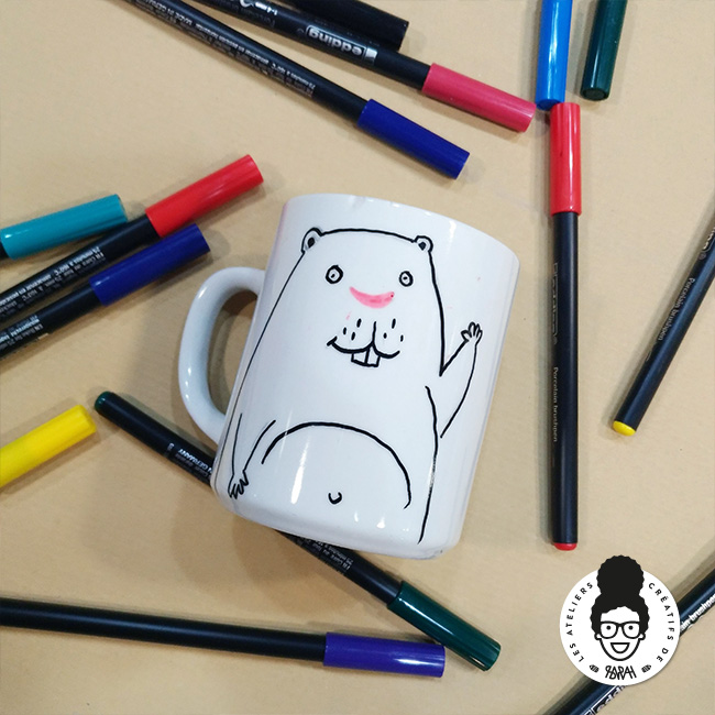 Les Ateliers Créatifs de Sarah Gyver Gaouaoui Zôdio La Rochelle atelier customisation mug diy