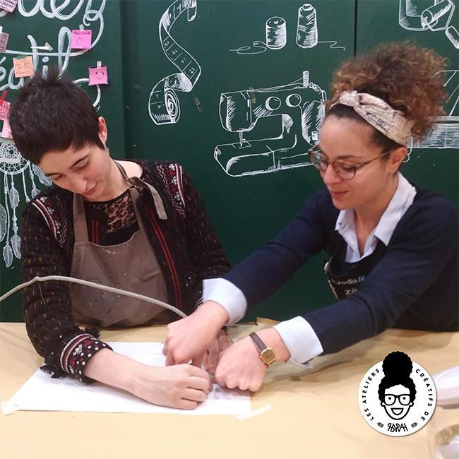 Les Ateliers Créatifs de Sarah Gyver Gaouaoui Zôdio La Rochelle atelier tricotin diy avec Artezane