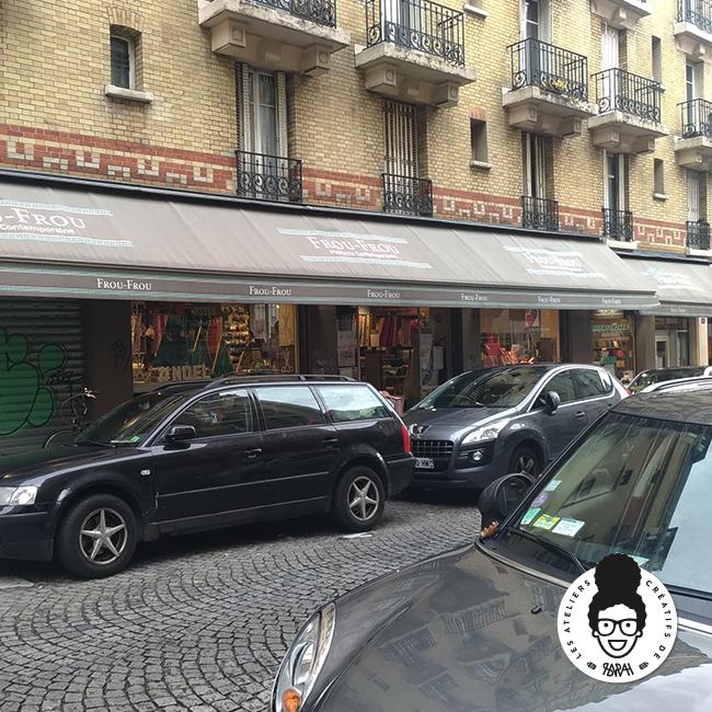 les ateliers créatifs de sarah Gyver Gaouaoui tissus wax Montmartre Paris