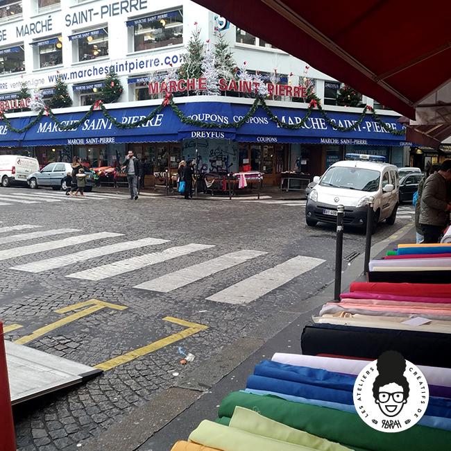 les ateliers créatifs de sarah Gyver Gaouaoui tissus wax Montmartre Paris Marché Saint-Pierre