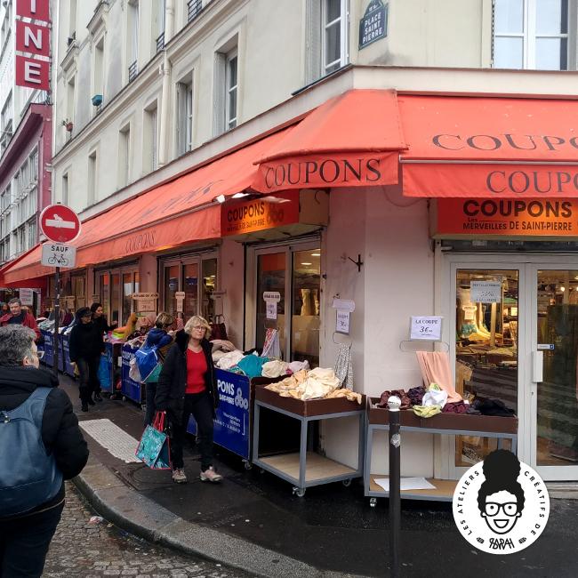 les ateliers créatifs de sarah Gyver Gaouaoui tissus wax Montmartre Paris Les Merveilles de Saint-Pierre