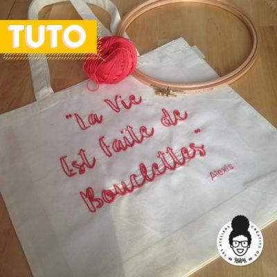 Broderie sur Tote Bag