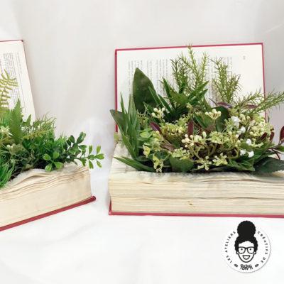 On détourne des livres pour des étagères florales