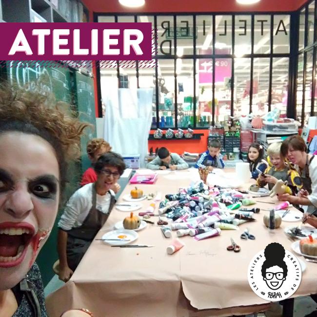 Les Ateliers Créatifs de Sarah Gyver Gaouaoui Zôdio La Rochelle atelier halloween diy