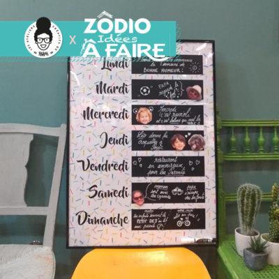 TUTO ZÔDIO tableau organiseur de la famille DIY – magazine «Idées à faire»